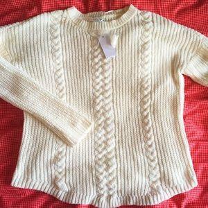 Super soft cream chenille sweater!